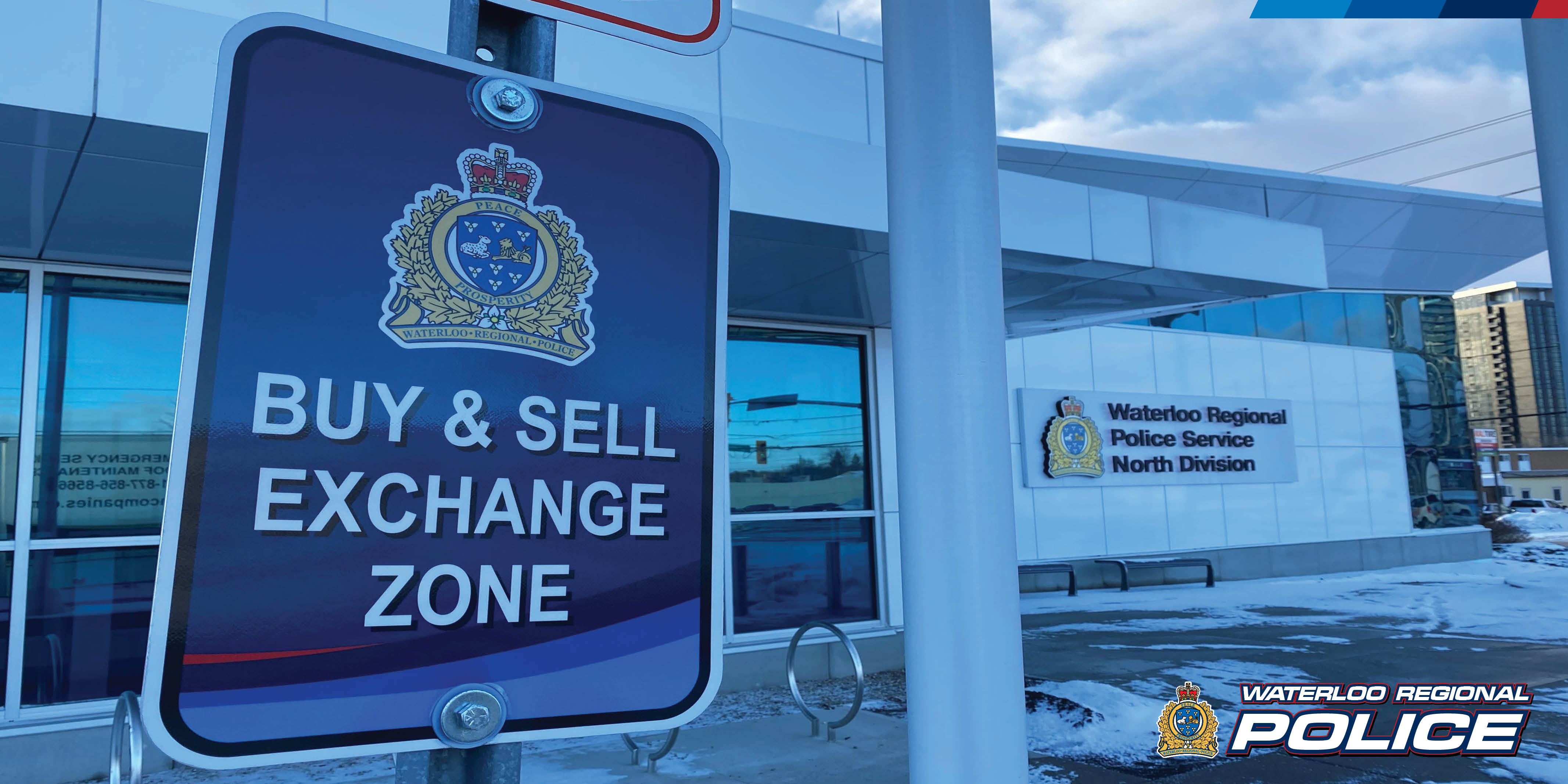 Police building with the words Buy and Sell Exchange Zone